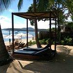 private Liegen vom Beachfront-Bungalow