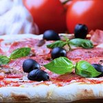 Thin crust Italian Pizza with deli quality ingredients