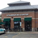 Entrance to Starbucks Coffee