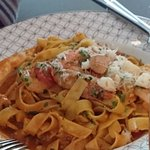 My favourite - lobsters and prawns with pasta