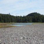 Jasper Beach with lagoons behind