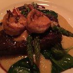 Mary Tierra…Grilled Flat Iron Steak, Grilled Jumbo Shrimp