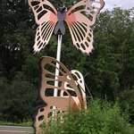 CAYUGA NATURE CENTER - BUTTERFLY SCULPTURE