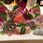 Average presenation of assorted sashimi