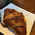 My ham and cheese croissant, this was the only ok thing we were served