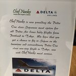 Catering for Delta's One Class flights to Tokyo.