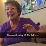 The hotel owner, a true delight!