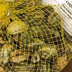 Arrivage de coquillages et thon