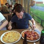 Pizza and Garlic bread!!!!