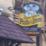 Sign above entrance to Pied Piper.