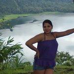 Fotografia tomada desde el mirador de la laguna Hule ubicado en el refugio nacional Bosque Alegr