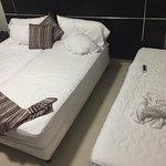 La minnie cama en la que termine durmiendo esa noche.