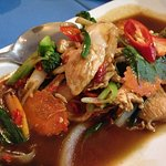 phad pai gaprao (with chicken)