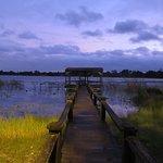 Motel's dock on Lake Cecile