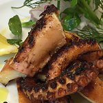 Greek style barbecued octopus
