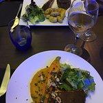 Échine de porc - purée potimarron Rumsteck - pdt  Cafe gourmand et tarte aux figues   Succulent
