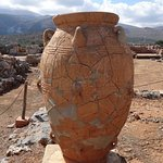 One of the 3,500 year old containers in nearby Malia Palace