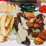Lunch menu with chicken&beef
