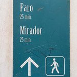 "This is the approximate time it takes to reach the summit, ""mirador"" means lookout point"
