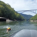 View of the New River Gorge Bridge -- a worthwhile tourist endeavor of its own.