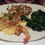 Swordfish and pumpkin ravioli