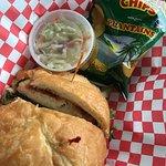 Crabcake sandwich-excellent, tasty