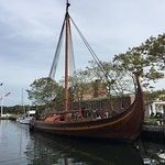 All the way from Norway. See her at the Mystic Seaport Museum.