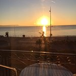 Sunrise over Weymouth bay from our balcony...beautiful