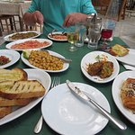 Selection of local dishes as a Meze