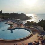 la piscine la plage au coucher du soleil