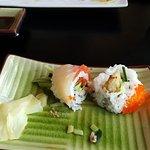 Terrific sushi. Hubby enjoyed the bite of the wasabi