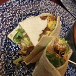 Chicken wrap as served