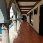 Hotel Colonial courtyard corridor alongside pool