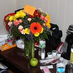 Bouget of flowers from Debbie and the hotel staff.