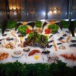 The fresh seafood display