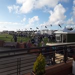 View from the terrace looking onto the 18th green
