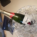 We not only got up graded for our anniversary, we received this amazing gift of champagne from t