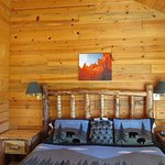 Rustic knotty pine furnishings