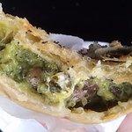 Spinach, mushroom, feta cheese