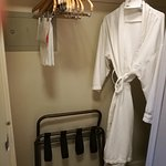 Large closet with thin bathrobe