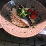 Ham hock & Sea Bass risotto