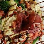 sunset mahi--picatta style--great sauce and veggies