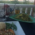 Dinner from the back patio