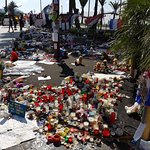 The prominade in Nice just after the Nice terror attack on Bastille day