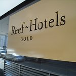 Outside the Reef Hotel