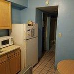 refrigerator and hallway
