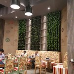 Pleasant Vertical garden in the 24 Hour coffee shop..