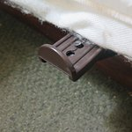 Protruding bed bracket (two on one side of bed. Ouch!~ )