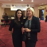 The Operations Manager Iulia Dinica who prepared our conference and took care of us throughout.