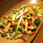 Jiao Yan Shu Cai, this was salt and pepper vegetables,
